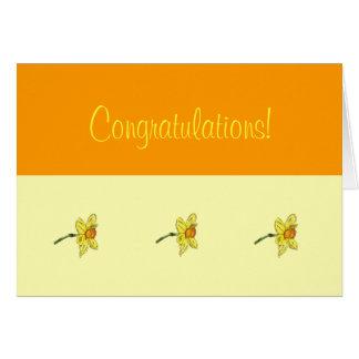 Félicitations de jonquille (narcisse) carte de correspondance