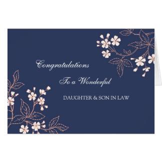 Félicitations de mariage de fille et de beau-fils carte de vœux