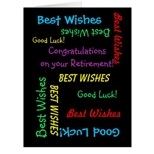 Félicitations de retraite de tous les nous, ENORME Carte De Vœux