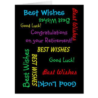 Félicitations de retraite de tous les nous, ENORME Carte De Vœux Grand Format