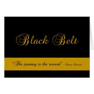 Félicitations de voyage de ceinture noire d'arts carte de correspondance