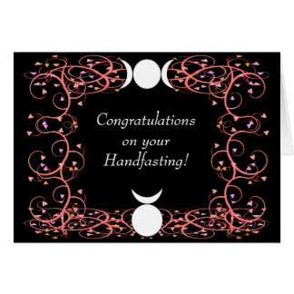 Félicitations de Wiccan Handfasting de Dieu et de Carte De Vœux