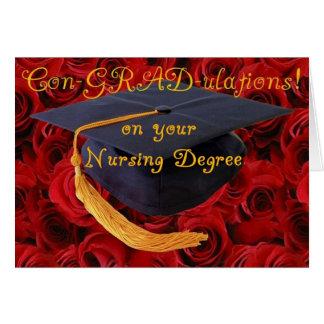 Félicitations/diplôme en soins infirmiers de BScN- Carte De Vœux