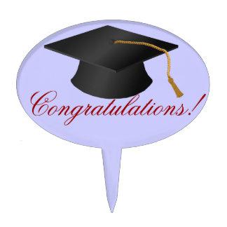 Félicitations d'obtention du diplôme étiquette à gâteau