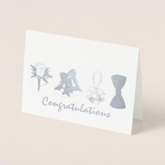 Félicitations épousant l'arc de fleur de Bell de Carte Dorée