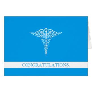 Félicitations faites sur commande professionnelles carte de correspondance