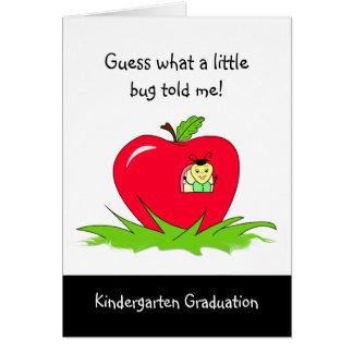Félicitations rouges licenciées d Apple de jardin Carte De Vœux