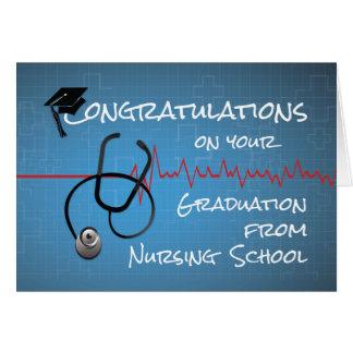 Félicitations Stethosc d'école d'infirmières Carte De Vœux