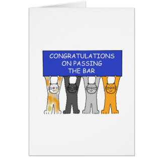 Félicitations sur passer l'examen de barre carte de vœux