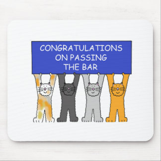 Félicitations sur passer l'examen de barre tapis de souris
