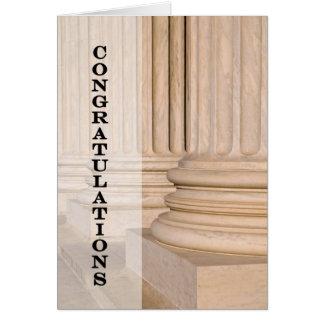 Félicitations sur passer l'examen d'essai de loi carte de vœux