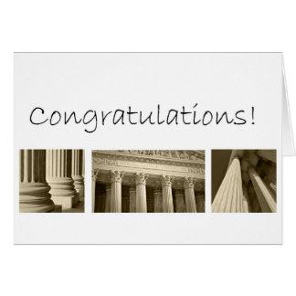 Félicitations sur recevoir un diplôme de l'école d cartes