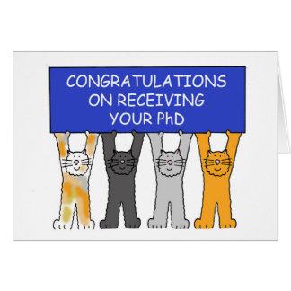 Félicitations sur recevoir votre PhD. Carte De Vœux