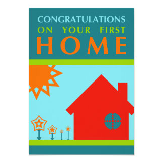 félicitations sur votre premier à la maison carton d'invitation  12,7 cm x 17,78 cm