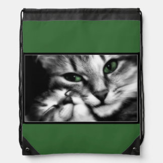 Feline Affection Drawstring Bag