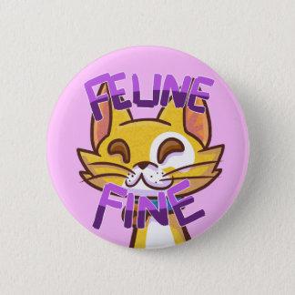 Feline Button-Feline Fine 2 Inch Round Button