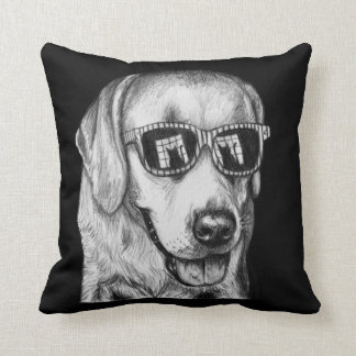Feline Fascination Dog Art Pillow