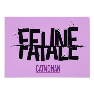 "Feline Fatale 5"" X 7"" Invitation Card"