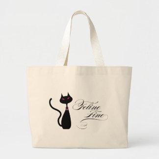 Feline Fine Large Tote Bag