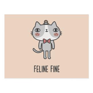 Feline Fine Postcard