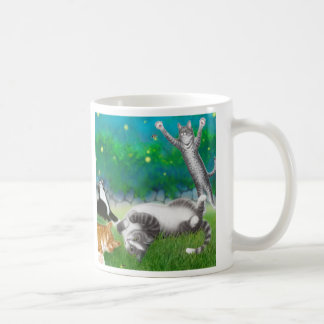 Feline Fun with Fireflies Mug