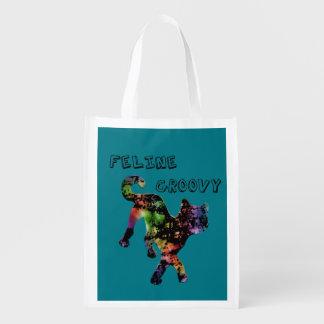 Feline Groovy Grocery Bag