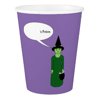 Feline Witch Trick-or-Treater Paper Cup