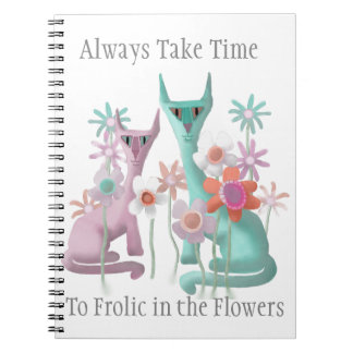 Felines in Flowers Notebooks