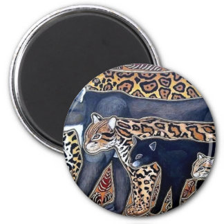 Felines of Costa Rica - Big cats 2 Inch Round Magnet