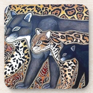 Felines of Costa Rica - Big cats Beverage Coaster
