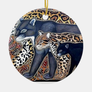 Felines of Costa Rica - Big cats Ceramic Ornament