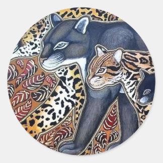 Felines of Costa Rica - Big cats Classic Round Sticker