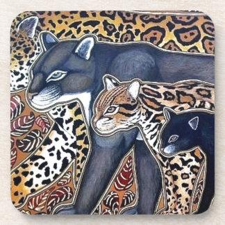Felines of Costa Rica - Big cats Coasters
