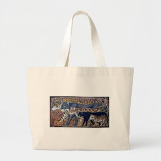 Felines of Costa Rica - Big cats Large Tote Bag