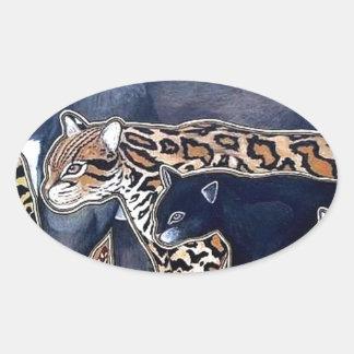 Felines of Costa Rica - Big cats Oval Sticker