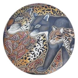 Felines of Costa Rica - Big cats plate