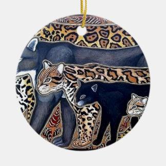 Felines of Costa Rica - Big cats Round Ceramic Ornament
