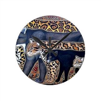Felines of Costa Rica - Big cats Round Clock