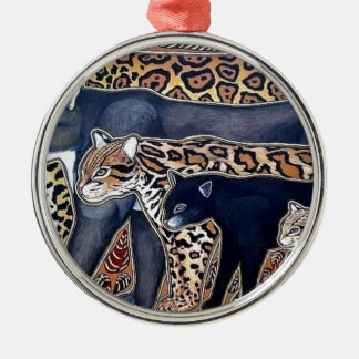 Felines of Costa Rica - Big cats Silver-Colored Round Ornament