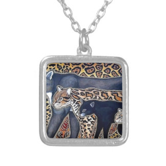 Felines of Costa Rica - Big cats Silver Plated Necklace