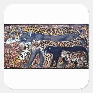 Felines of Costa Rica - Big cats Square Sticker