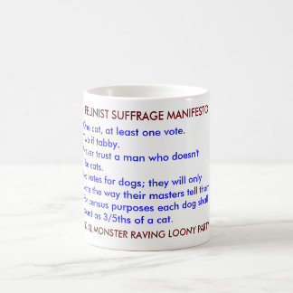 FELINIST SUFFRAGE MANIFESTO CLASSIC WHITE COFFEE MUG