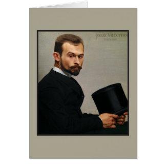 Felix Jasinski Holding Hat by Vallotton Card