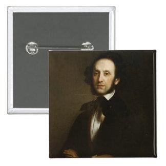 Felix Mendelssohn 2 Inch Square Button