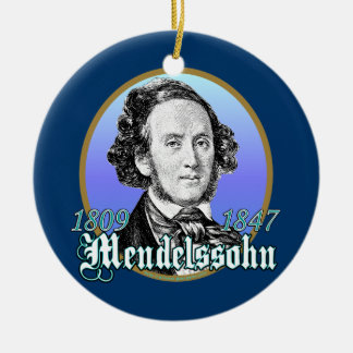 Felix Mendelssohn Ceramic Ornament