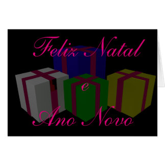 Felix Natal e Ano Novo Greeting Card