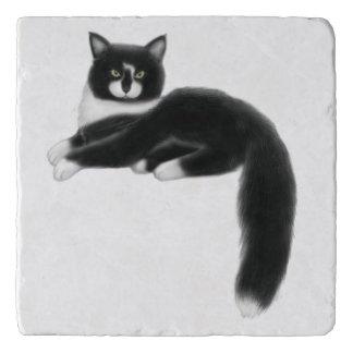 Felix the Tuxedo Cat Stone Trivet