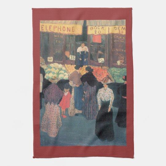 Felix Vallotton - At the market Towel