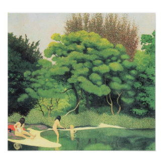 Felix Vallotton-Bathers in the woods Poster