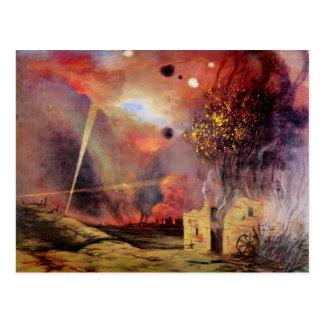 Felix Vallotton - Landscape off ruins and fires Postcard